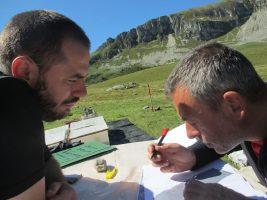 documentazione di scavo alla Busa delle Vette (BL)