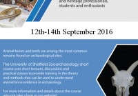 Understanding Zooarchaeology September 2016